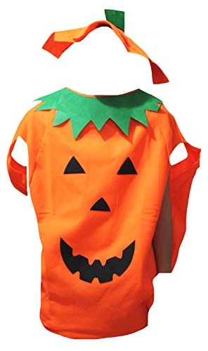 petitebelle Halloween Kürbis Kostüm-Set Party Wear Unisex Erwachsene Kleidung, Orange, CD142