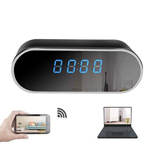 The perseids WiFi Hidden Spy Camera Clock Sistema da 12 ore, telecamera Full HD 1080P senza fili con rilevamento del movimento, visione notturna, video in tempo reale, cam nascosta