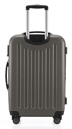 Hauptstadtkoffer - Spree - Handgepäck Hartschalen-Koffer Trolley Rollkoffer Reisekoffer Erweiterbar, TSA, 4 Rollen, 55 cm, 42 Liter, Graphit - 6