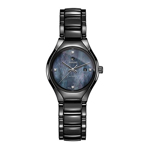 Rado True Damen-Armbanduhr Diamant 30mm Armband Keramik Automatik R27242872