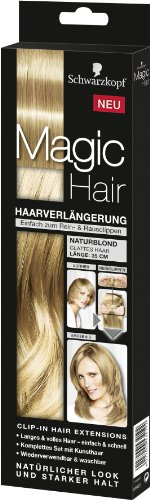 Magic Hair Schwarzkopf Magic Haarverlängerung Länge 35 cm, Naturblond (Clip Hair Extensions)