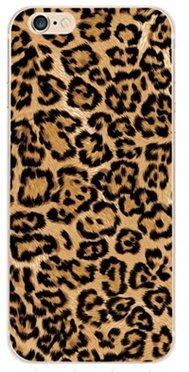 iPhone 6, iPhone 6S Elegante funda - gel de silicona irrompible con la impresión de lujo -NOVAGO -Leopardo