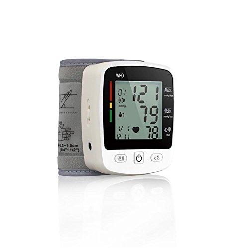 XIXI Esfigmomanómetro para el hogar Muñeca Monitor de presión arterial Ancianos Mareo Hipertensión Pulso cardiaco Medida Cuidado de la salud