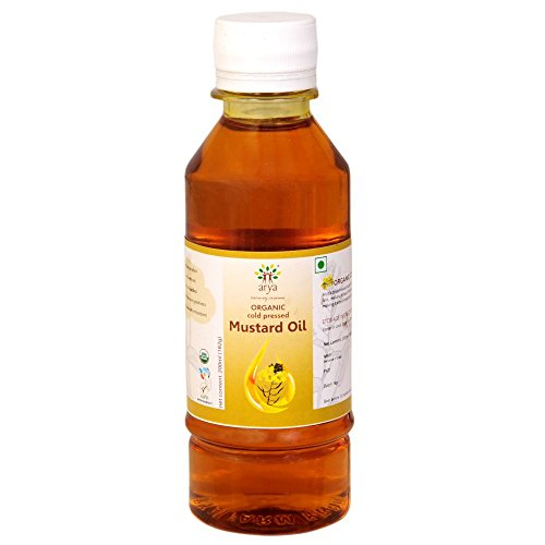 Arya Farm Organic Cold Pressed Mustard Oil, 200 ml  available at amazon for Rs.102