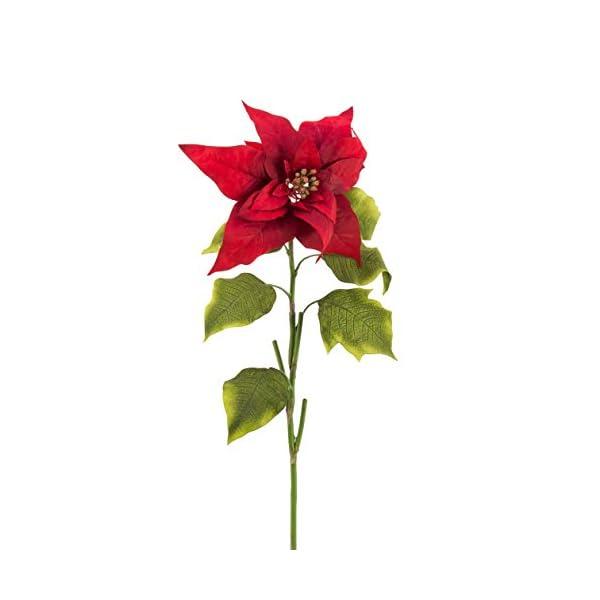 artplants.de Flor de Pascua Artificial – Ponsetia, Rojo, 70cm – Flor sintética – Planta Artificial