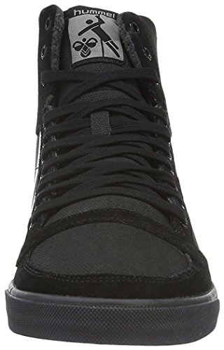 Hummel Slimmer Stadil Smooth Canvas, Sneakers Hautes Mixte Adulte Noir (Black)