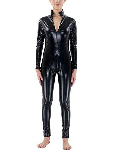 Kostüme Mann Schwarze Lustige (Second Skin Kostüm Ganzkörperanzug Halloween Kostüme Schwarz)