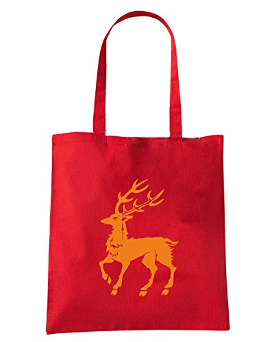 T-Shirtshock - Borsa Shopping FUN0297 12 27 2013 December Stag T SHIRT det Rosso