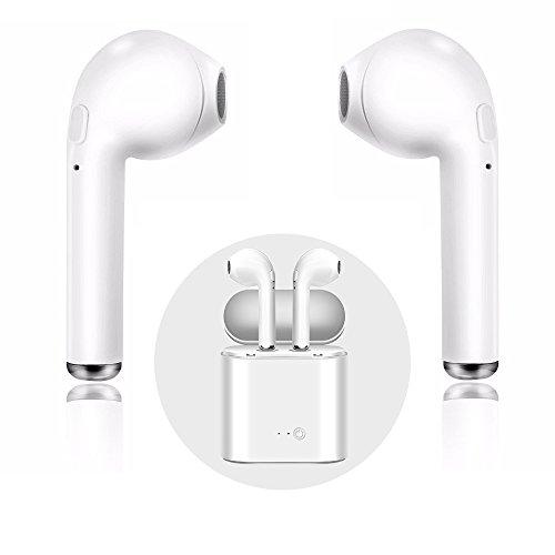Hände Frei Handy Headset (Bluetooth Headset, i7 Wireless Ohrhörer mit Ladekoffer Mini In-Ear Kopfhörer Kopfhörer mit Mikrofon, Hände frei für iPhone X 8 8 plus 7 7 plus 6S Samsung IOS Android SmartPhones)