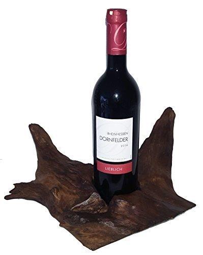 Kerzenständer Kerzenleuchter Teakholz Holz dunkelbraun braun natur Teak Weinflaschenhalter...