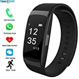 WCPZJS Intelligentes Armband Bluetooth-Armband S68 Herzfrequenz/Blutdruck Tracker Anruf/MSN/Social App Notifier Smart Band