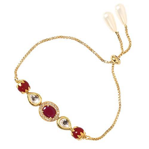 SHUBHAM JEWELLERS KUNDAN AD Antique Stone Bracelet with Adjustable Chain for Women