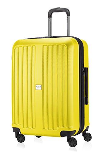 Hauptstadt Vier (HAUPTSTADTKOFFER - X-Berg - Hartschalen-Koffer Koffer Trolley Rollkoffer Reisekoffer, 4 Rollen, TSA, 75 cm, 90 Liter, Gelb matt)