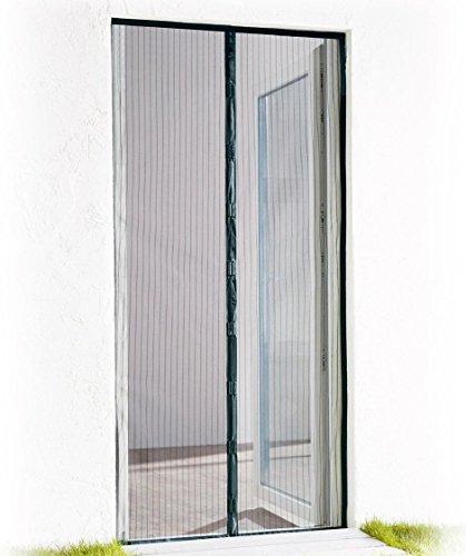 POWERFIX® Tür-Fliegengitter/Magnetvorhang, 100 x 220 cm, schwarz