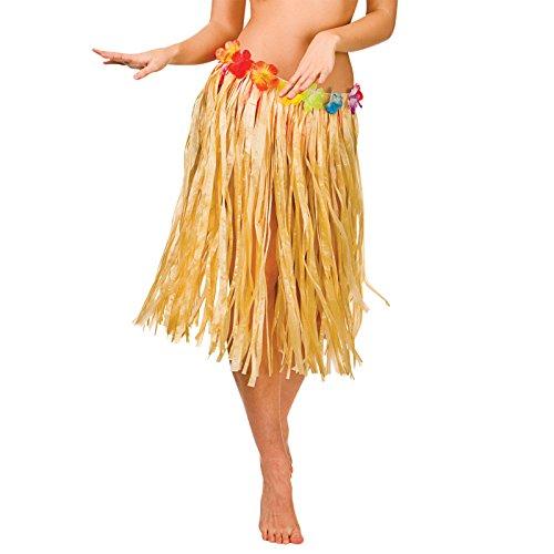 Hawaiian One Size Hula Skirt 60cm Authentic Raffia Grass Fancy Dress Luau Party ?