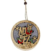 Oshide Inicio LLEVÓ la Luz de Madera Árbol de Navidad de Navidad Chrismas En Colgante y Gota Adornos Ornamento Colgante Jardín Decoración de la Fiesta