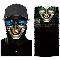 YOUNICER Ciclismo Cara máscaras Cabeza Bufanda 3D Joker cráneo patrón máscara Cuello más Caliente Cara máscara