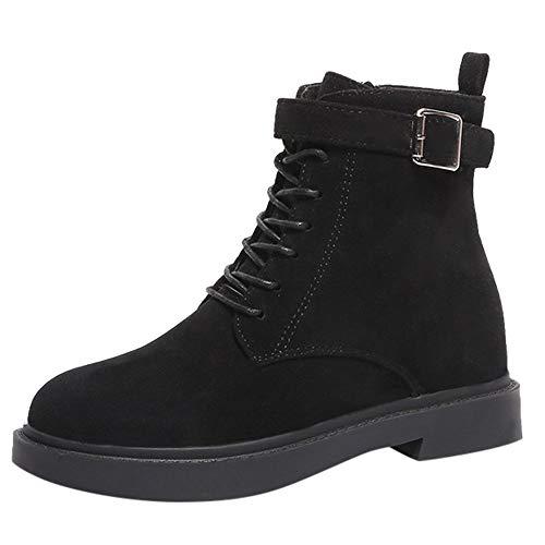 Stiefeletten Damen Schuhe ABsoar Boots Stiefel Frauen Schuhe Women Party Wildleder Blockabsatz Boots Dicke High Heels Schlupfstiefel Riemchen Klassischer Sandals Frauen Schnallen Blockabsatz Schuhe