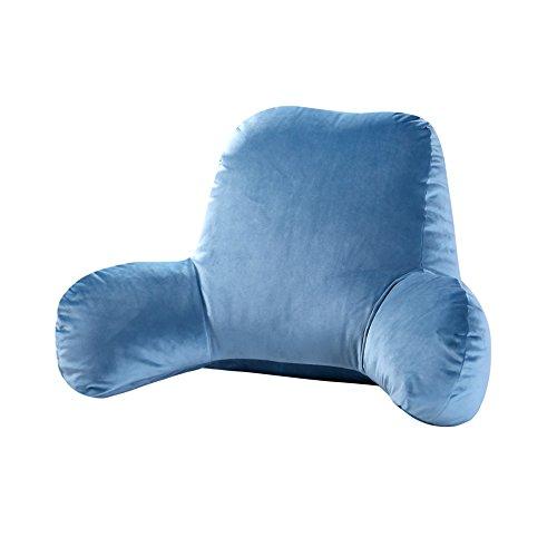 G-Y Chaise De Bureau En Canapé En Daim Épais Avec Coussin De Lombaire, Pourpre, Nettoyage De Nettoyage Coussin (Couleur : Bleu, taille : 50 cm)