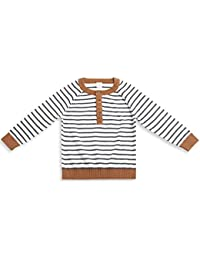 Mini Klub Boy's Full Sleeves Sweater With Stripes ( Multi_2-3 years)