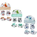 My Newborn Baby Mitten Cap and Booty Set - Set of 3 Packs