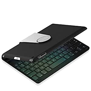 Tastiera per iPad Mini, JETech Custodia Protettiva con Bluetooth Wireless Tastiera per Apple iPad Mini 1/2/3 con Rotazione di 360 Gradi e Multi-Angel Stand - 2011