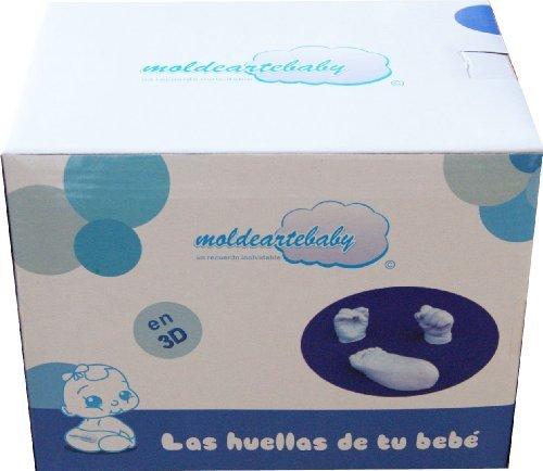 La Huellas de Bebe En 3D del Pie y Mano,Con todo el material necesario para realizar las esculturas del recién nacido.(HASTA 7 HUELLAS)