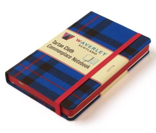 Waverley Scotland Large Tartan Cloth Commonplace Notebook - Elliot Tartan (Waverley Genuine Scottish Tartan Notebook, Band ()