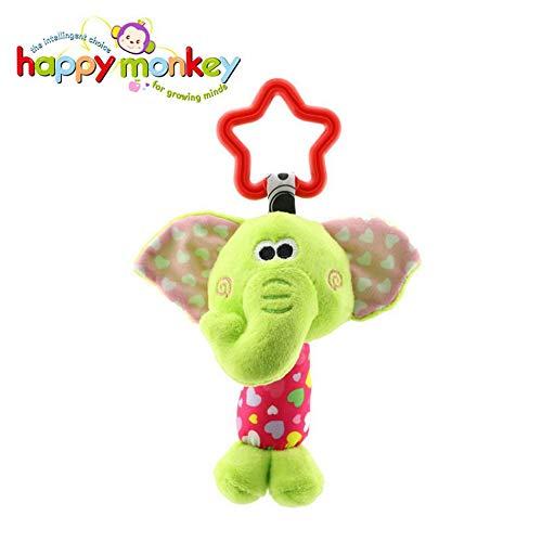 LpfbGezfnwb Happy Monkey Kinderwagen Anhänger Komfort Spielzeug 0-1 Auto hängen Bett hängen Spielzeug Elefant (bunt) -