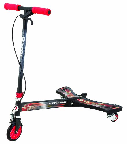 Razor Powerwing Scooter 3 Wheels, Rosso/Nero, 69.34 X 47.24 X 79.5