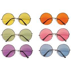 Gafas de sol de estilo retro hippie