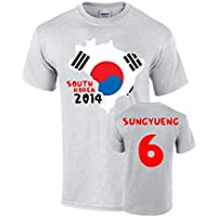 South Korea 2014 Country Flag T-shirt (ki 6)
