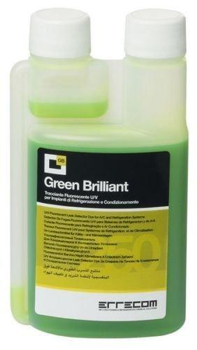 Errecom GREEN UV LEAK DETECTOR DYE FOR A/C SYSTEMS R12, R134A, R1234YF, HYBRID & ELECTRIC VEHICLES YOU WILL GET: 250ML BOTTLE