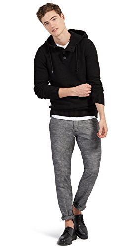 Tom Tailor Denim für Männer knit Strick-Hoodie Black