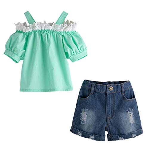 e Träger Mini Plissiert Rock hosenträger Rock Mädchen Kleid Lila Rose Blume Doppelklicken Krawatte Party Kids Trägerkleid Gr. 98-146 ()