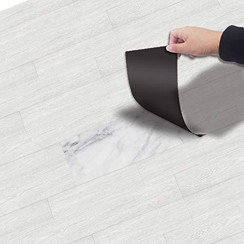 Kuke Bodenaufkleber Selbstklebend 20x300 cm, Muster Stil Bodenfliesen Fliesenaufkleber Wasserdichte Anti-Rutsch Fliesensticker für Küchenboden Bad Wohnzimmer Balkon (NO3)