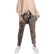d9767cc4a165 AMUSTER Pantalon lâche imprimé Floral léopard Pantalon Nouveau Trousers  Mode Sport Pantalon Taille Haute Pantalon Sarouel