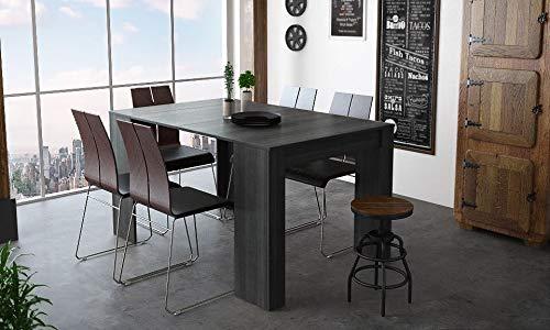 Home Innovation - Table Console Extensible, rectangulaire avec rallonges, jusqu'à 140 cm, pour Salle à Manger et séjour, Couleur Grise. jusqu´à 6 Personnes. Dimensions fermée : 90x50x78 cm.