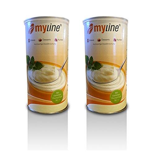 Inko Myline Eiweiß , Kokos-Quark mit Crispies, 2er Pack (2 x 400g Dose) Mylineaktion 2019 + 3 Myline Riegel gratis