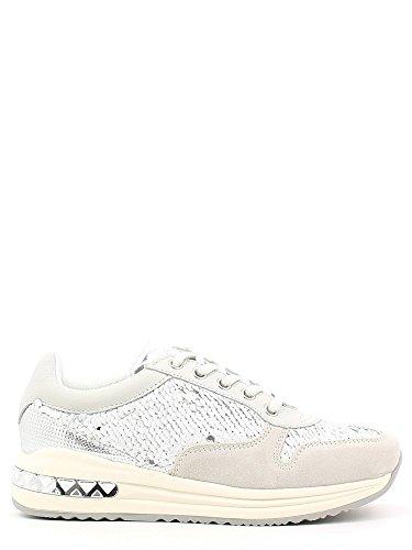 CAFÈ NOIR Sneakers running donna con pailletes P/E 2016 cod.DA642 (41, BIANCO)