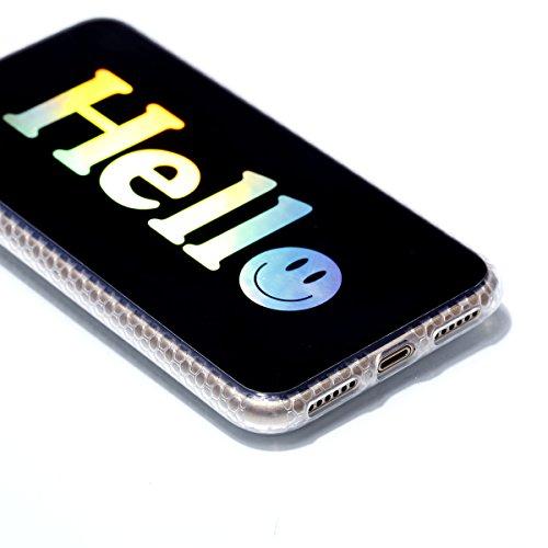 Pour Apple Iphone X Case Cover, Ecoway TPU Soft Motif de placage en couleur personalized pattern Housse en silicone Housse de protection Housse pour téléphone portable pour Apple Iphone X - diamant diamant