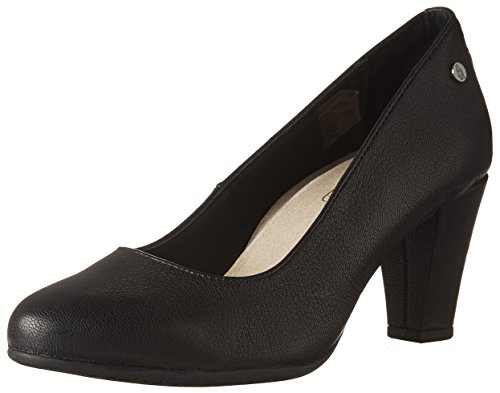 Hush Puppies MINAM MEAGHAN Ladies Leather Heeled Court Shoes Black UK 6