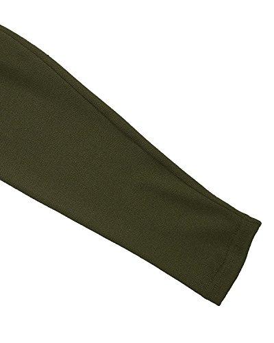 Fortuning's JDS Asymétrique Glands Batwing Lâche Cap Pull Manteau Tops Chemise pour femme vert profond