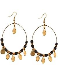 Zephyrr Jewellery Gold Tone Lightweight Beaded Hook Earrings