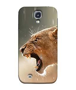 PrintVisa Designer Back Case Cover for Samsung Galaxy S4 Mini I9195I :: Samsung I9190 Galaxy S4 Mini :: Samsung I9190 Galaxy S Iv Mini :: Samsung I9190 Galaxy S4 Mini Duos :: Samsung Galaxy S4 Mini Plus (The Lion Grawling In The Jungle Design)