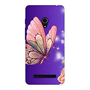 Butterfly Pinkish Back Case Cover for Zenfone 5