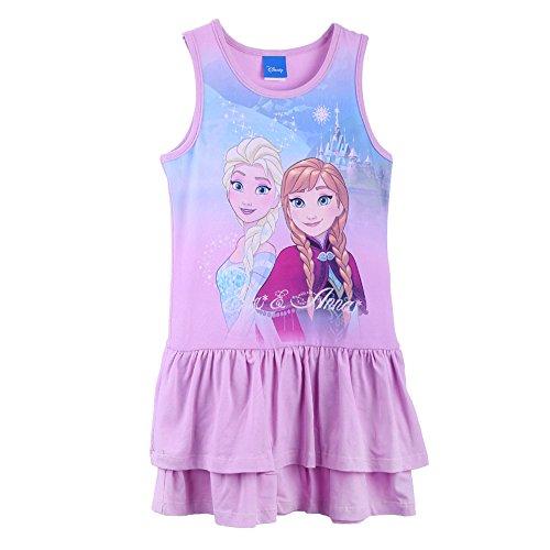 Disney-Die Eiskönigin Mädchen Kleid 73668, Violett (Flieder 887), 128 (Disney Elsa Kleider)
