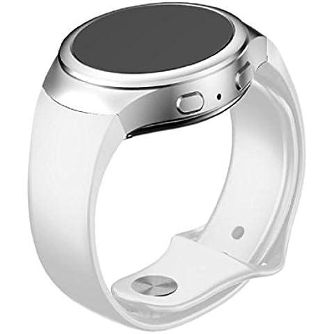 Sannysis Banda de reloj del silicón del reemplazo para Samsung Galaxy Gear S2 SM-R720 (Blanco)