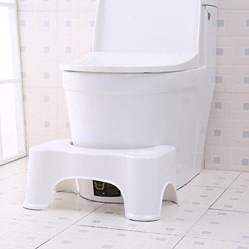 Thinkmax Töpfchen verhindern Verstopfung Badezimmer WC Aid SQUATTY Schritt Fuß Hocker für ältere Kinder Schwangere Frauen