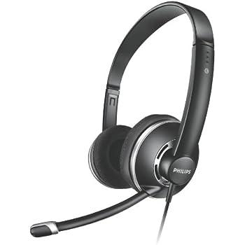 Philips SHM7410U PC-Kopfhörer (Lautstärkeregelung im Kabel und Geräuschunterdrückung Mikrofon) schwarz